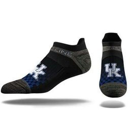 STRIDELINE SOCKS, NO SHOW, BLACK, UK OSFM