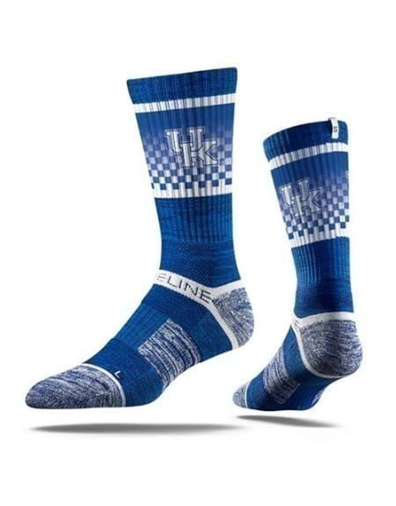 STRIDELINE SOCKS, CREW, CHECKER, ROYAL, UK OSFM