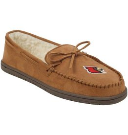 SLIPPERS, MOCCASIN, BROWN, UL