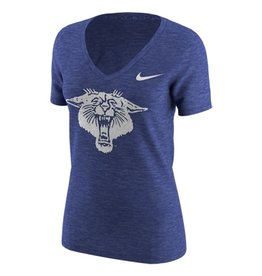 Nike Team Sports TEE, NIKE, SS, V-NECK, TRI, WILDCAT, ROYAL, UK