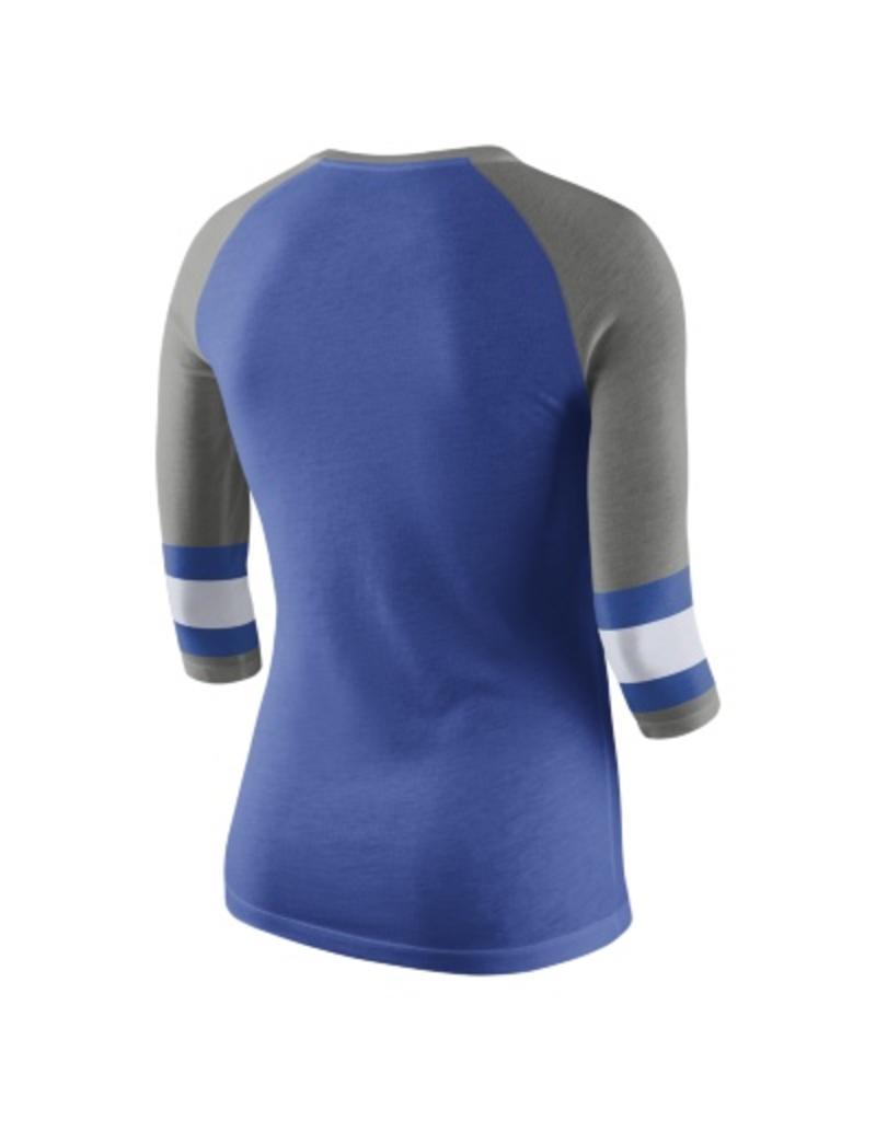 Nike Team Sports TEE, LADIES, 3/4 SLEEVE, NIKE, RAGLAN, ROYAL, UK