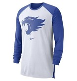 Nike Team Sports TEE, NIKE, LS, BREATHE TOP, WHITE, UK