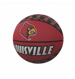 LOGO BRANDS BASKETBALL, RUBBER, MINI-SIZE, RED, UL
