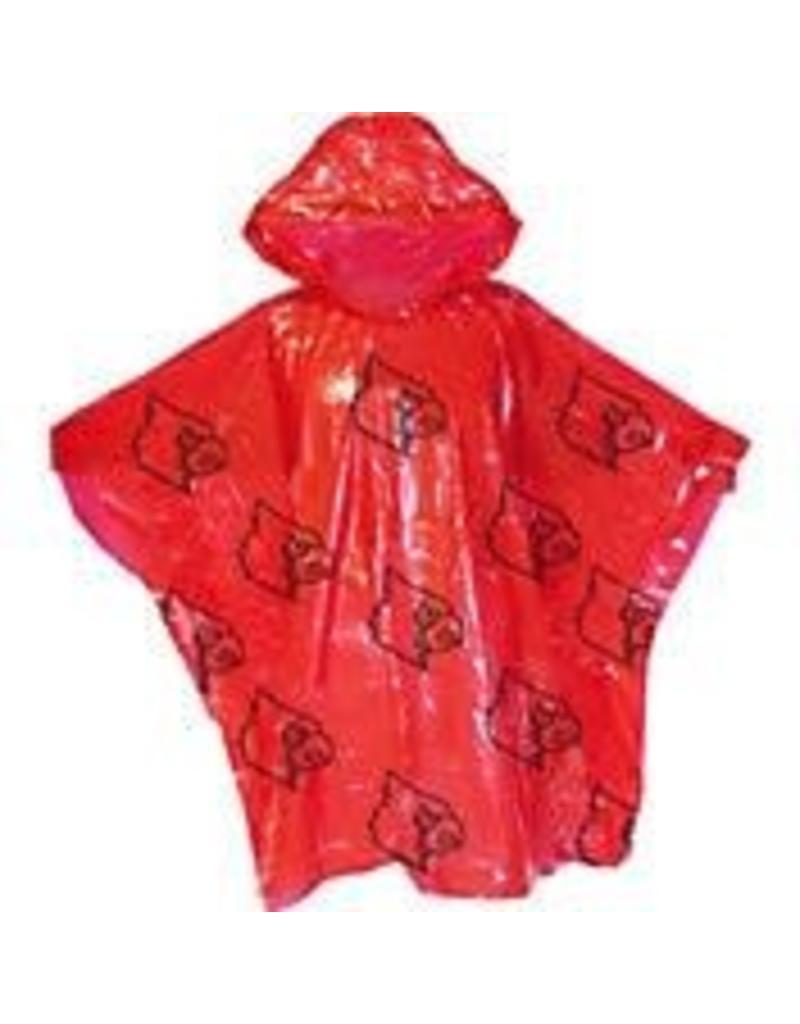 RAIN PONCHO, RED, UL