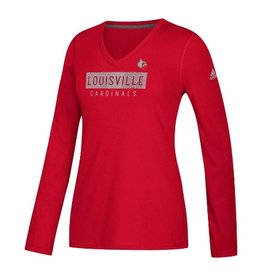 Adidas Sports Licensed TEE, LADIES, LS, BAR FLOW, RED, UL