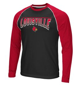 Colosseum Athletics TEE, LS, LASSO LIFT, RAGLAN, BLK/RED-C