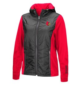 Colosseum Athletics JACKET, LADIES, FZ, MOGULS, CHA/RED, UL