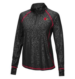 Colosseum Athletics PULLOVER, LADIES, 1/4 ZIP, FREE RIDING, BLK, UL