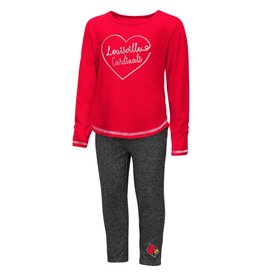 Colosseum Athletics SET, TODDLER, GIRLS, ICE, LEGGING, RED/CHA, UL