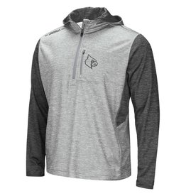 Colosseum Athletics HOODY, 1/2 ZIP, BANKED, GREY, UL