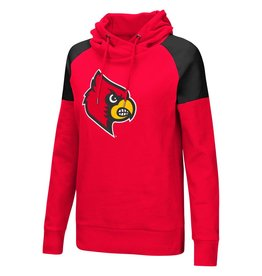 Colosseum Athletics HOODY, LADIES, TUNIC, LIEN AIR, RED/BLK, UL