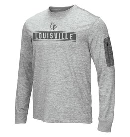 Colosseum Athletics TEE, LS, BANKED, GRAY, UL