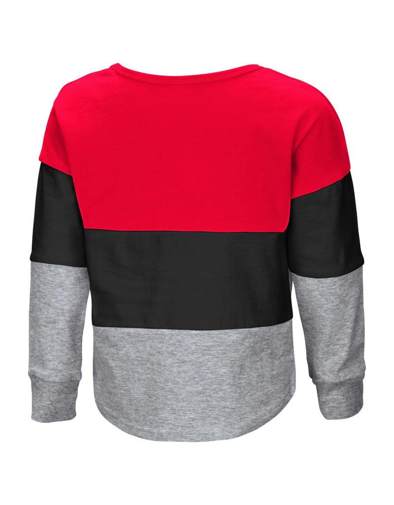 Colosseum Athletics TEE, TODDLER, LS, HANDPLANT, RED/BLK,UL