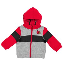 Colosseum Athletics HOODY, TODDLER, FZ, SNOWPLOUGH, GRY/RED, UL
