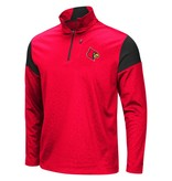 Colosseum Athletics PULLOVER, 1/4 ZIP, LUGE, RED/BLK, UL