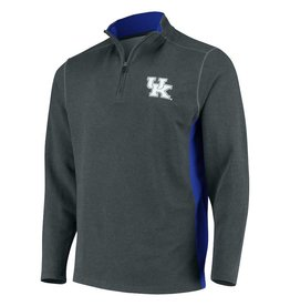 J. America PULLOVER, 1/4 ZIP, INCEPTION, GRY/ROY, UK