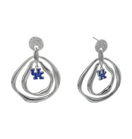 EARRINGS, CRYSTAL LOGO, UK