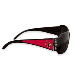 SUNGLASSES, FASHION, CRYSTAL, BLACK/RED, UL