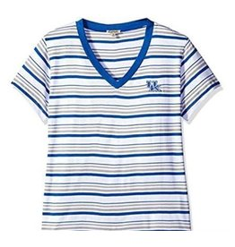 TEE, LADIES, SS, STRIPE, WHITE, UK