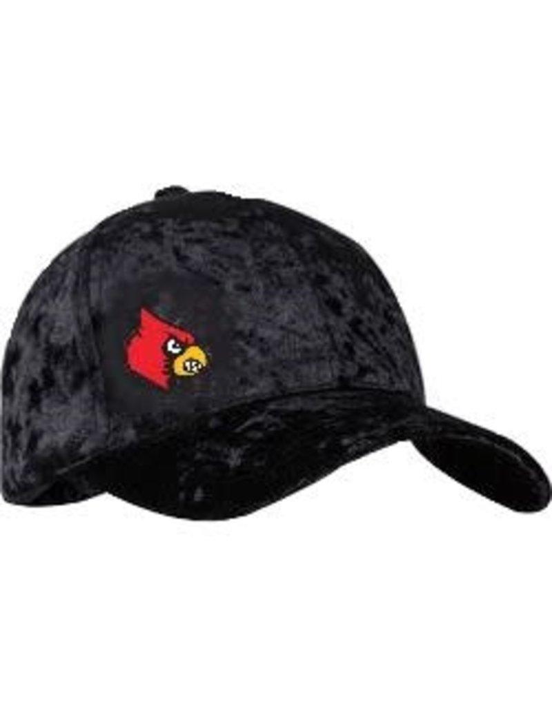 HAT, LADIES, CRUSHED, BLACK, UL