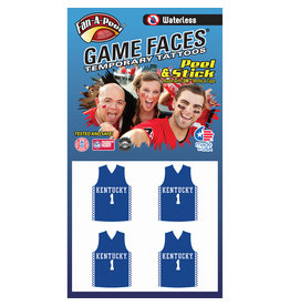 Fan A Peel FACE TATTOOS, JERSEYS, 4 PC, UK