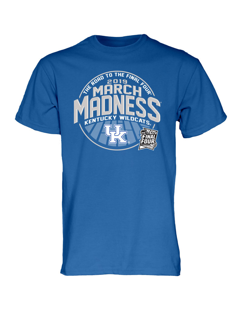 BLUE 84 TEE, SS, MARCH MADNESS, ROYAL, UK-C