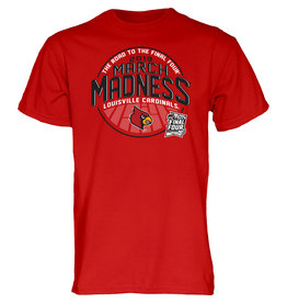 BLUE 84 TEE, SS, MARCH MADNESS, RED, UL-C