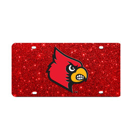 Stockdale Technologies LICENSE PLATE, GLITTER, RED, UL