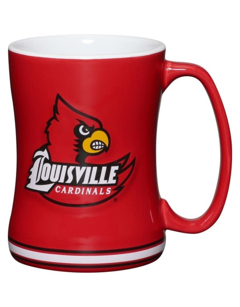 MUG, RELIEF, RED, UL