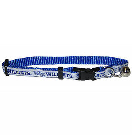 Pets First Co CAT COLLAR, ADJUSTABLE, WHITE/ROYAL, UK