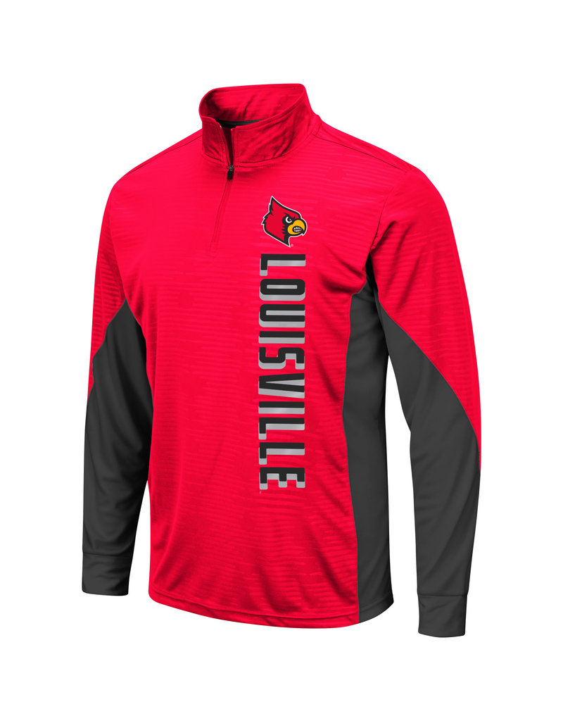 Colosseum Athletics PULLOVER, 1/4 ZIP WINDSHIRT, BART, RED/BLK, UL