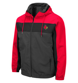 Colosseum Athletics JACKET, BROCKMAN, CHAR/RED, UL