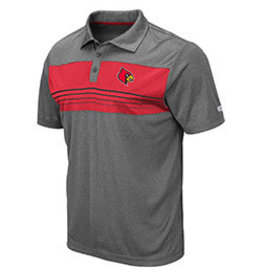 Colosseum Athletics POLO, SMITHERS, CHAR/RED, UL