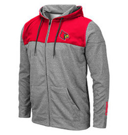 Colosseum Athletics JACKET, FZ, NELSON, GRAY/RED, UL