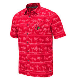 Colosseum Athletics SHIRT, CAMP SHIRT, HILO, RED, UL