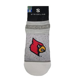 STRIDELINE SOCKS, NO SHOW, GRAY, UL OSFM