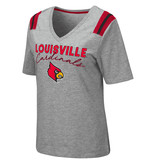 Colosseum Athletics TEE, LADIES, SS, THE CITY, GRAY/RED, UL