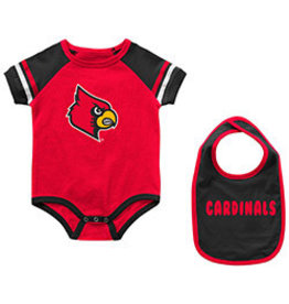 Colosseum Athletics ONESIE, INFANT, WARNER W/BIB, RED, UL