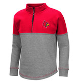 Colosseum Athletics PULLOVER, YOUTH, GIRLS, DOT, GRAY/RED, UL