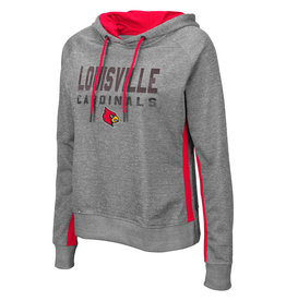 Colosseum Athletics HOODY, LADIES, COSMO, GRAY/RED, UL