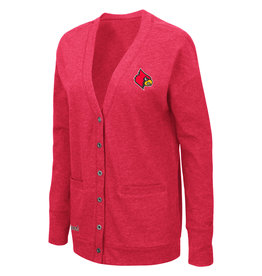Colosseum Athletics CARDIGAN, LADIES, PARK AVE, RED, UL