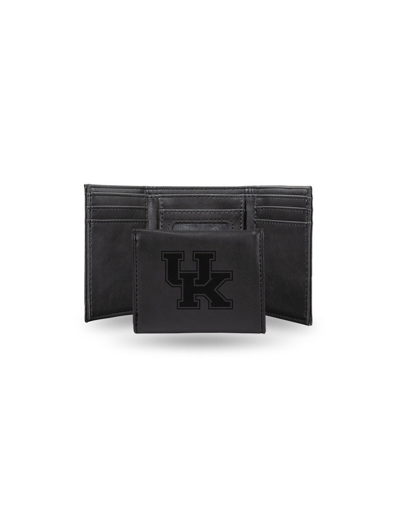 Rico Industries WALLET, TRI-FOLD, ENGRAVED, BLACK, UK