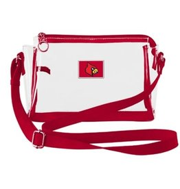 BAG, CLEAR, PURSE, RED TRIM, UL