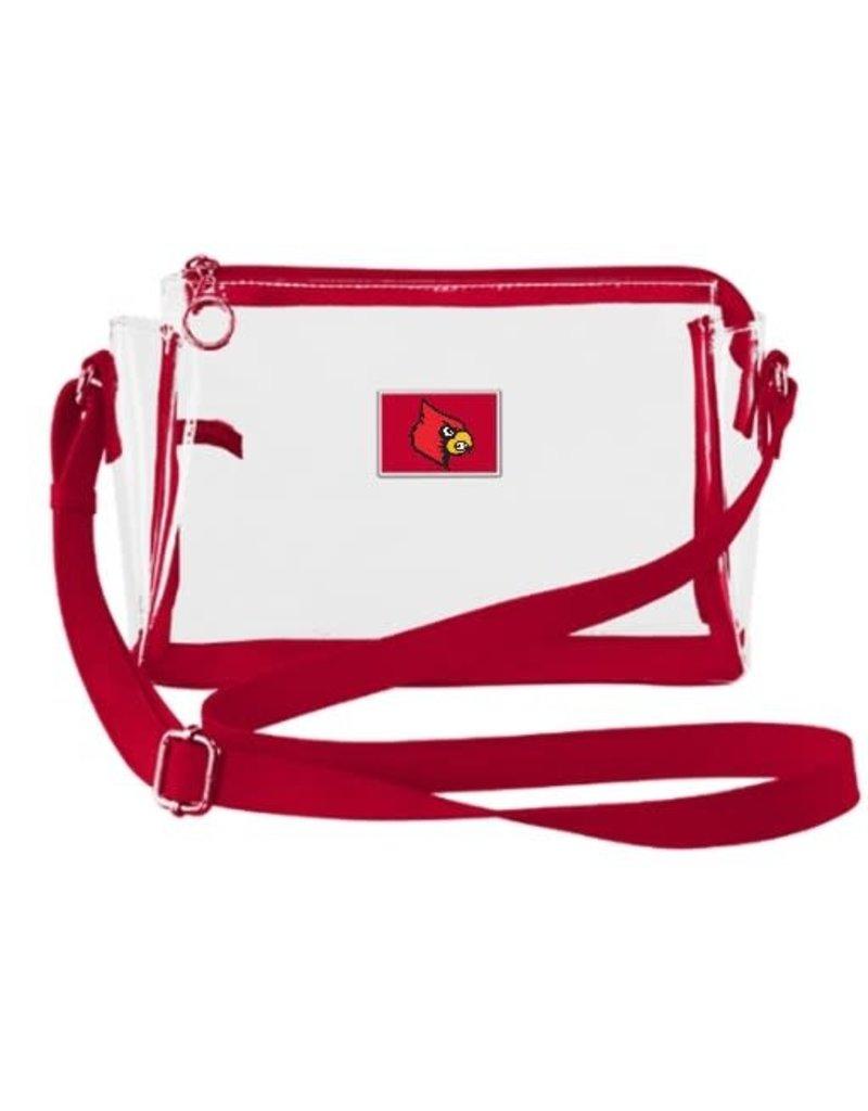BAG, CLEAR, PURSE, RED TRIM, UL