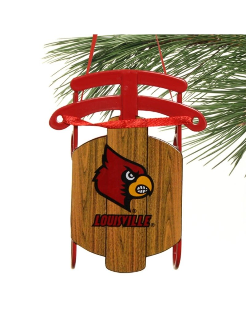 ORNAMENT, WOODEN SLED, UL