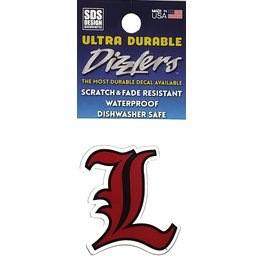 SDS Designs DECAL, DIZZLER, L LOGO, 2 IN, UL