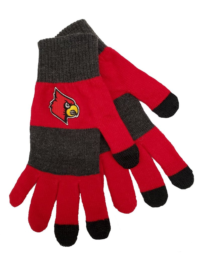 GLOVES, LADIES, RED/CHAR, UL