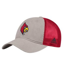 Adidas Sports Licensed HAT, ADJUSTABLE, ADIDAS, OVERDYE PRINT, RED/GRY, UL