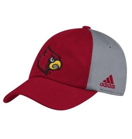 Adidas Sports Licensed HAT, ADJUSTABLE, ADIDAS, SLOUCH, RED/GRAY, UL