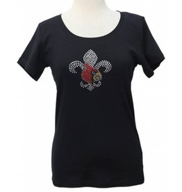 T-SHIRT, LADIES, SS, JEWEL NECK, BLK, UL